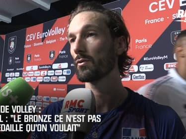 Euro de volley : « Le bronze, ce n'est pas la médaille qu'on voulait » lâche Lyneel dépité