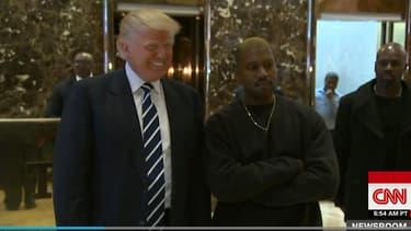 Donald Trump et Kanye West, à New York le 13 décembre 2016.