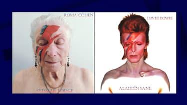 Une retraitée maquillée comme David Bowie sur la pochette de l'album Aladdin Sane
