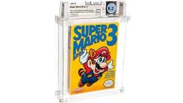La cartouche du jeu Super Mario Bros. 3 vendue par Heritage Auctions