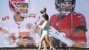 Patrick Mahomes et Tom Brady, les deux quarterbacks du Superbowl