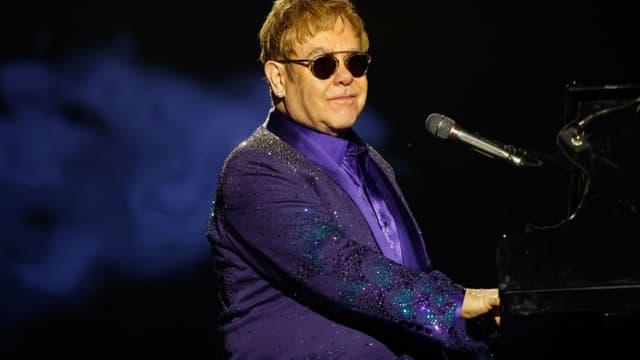 Elton John en concert en Israël, le 26 mai 2016