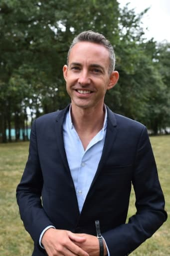 L'adjoint à la maire de Paris, Ian Brossat, tête de liste communiste aux élections européennes, le 26 août 2018 à Angers