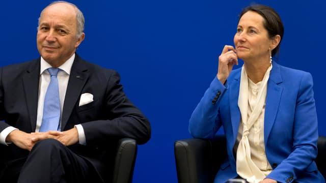 Laurent Fabius et Ségolène Royal à Paris, le 5 novembre 2014.