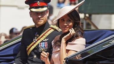 Le prince Harry et son épouse Meghan Markle à Londres le 9 juin 2018