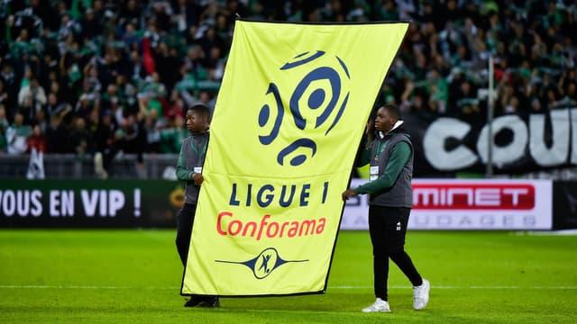 Un panneau de la Ligue 1