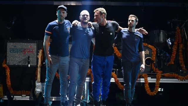 Coldplay en concert à Las Vegas en septembre 2015.