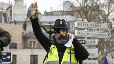 Jérôme Rodrigues lors de la manifestation du 2 février