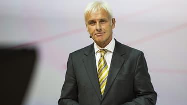 Matthias Müller a préféré faire profil bas.