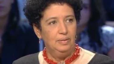 Aïcha el-Wafi, la mère de Zacarias Moussaoui, lors d'une émission télévisée en octobre 2003.