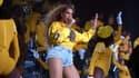 Beyoncé lors de sa performance à Coachella en avril 2018.