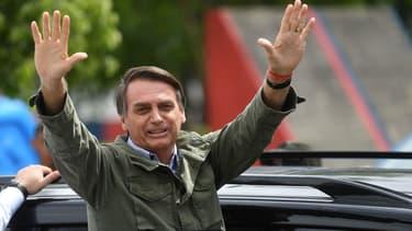 Jair Bolsonaro à Rio de Janeiro (Brésil) le 28 octobre 2018