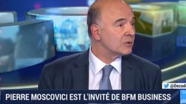 Pierre Moscovici était l'invité de BFM Business ce mardi.