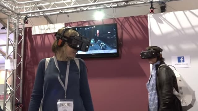 Le dispositif Real Virtuality d'Artanim au salon Laval Virtual.