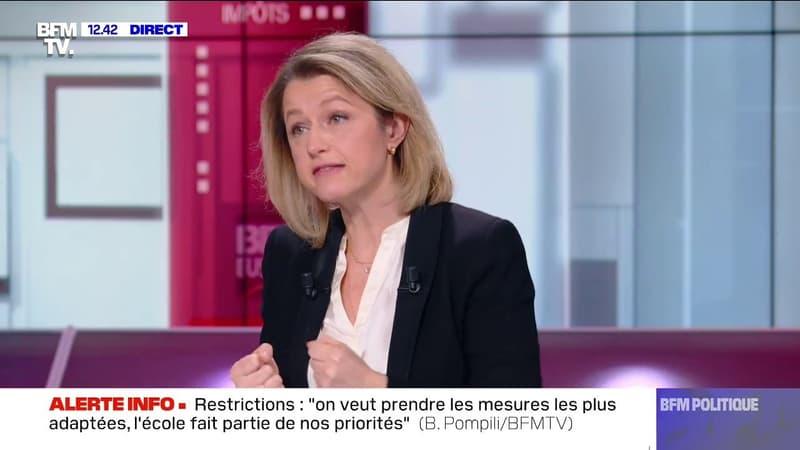 """Barbara Pompili: """"On veut développer l'intermodalité (...) c'est-à-dire qu'on puisse prendre un billet"""" qui comprend le TGV et l'avion"""
