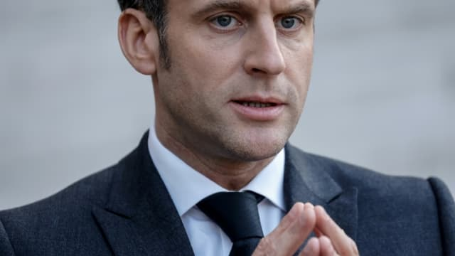 Le président français Emmanuel Macron à Paris, le 23 mars 2021