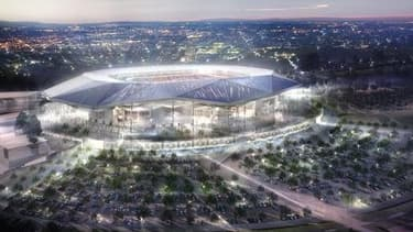Le Stade des lumières devrait sortir de terre à la fin de l'année 2015.