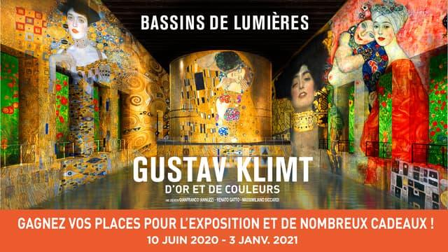 """Exposition """"Gustav Klimt d'or et de couleurs"""" aux Bassins de Lumières"""
