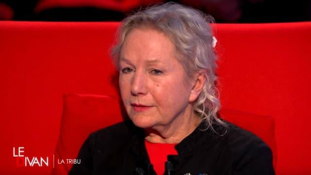 """La créatrice de la marque Agnès b. sur le plateau du """"Divan"""" en mars 2016"""