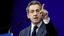 Nicolas Sarkozy parle au siège de l'UMP, le 7 février 2015.