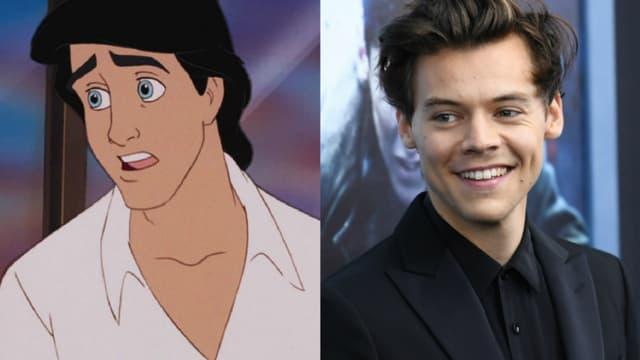 Le prince Eric de La Petite Sirène et Harry Styles