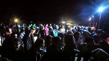 Une rave-party près de Dreux, en mai 2008 (image d'illustration). -