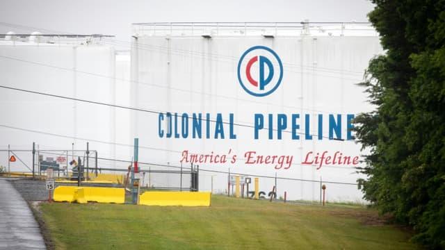 Un site de stockage de Colonial Pipeline, le 12 mai 2021 à Charlotte, en Caroline du Nord