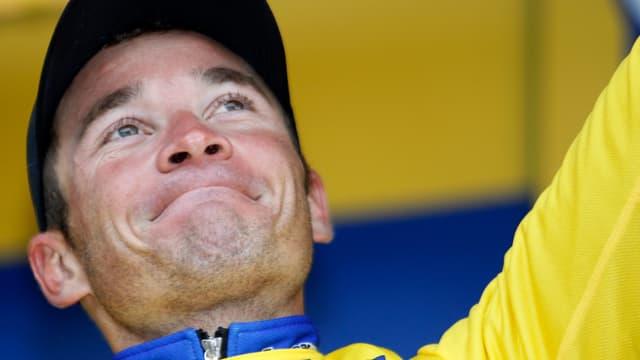 Thomas Voeckler a conservé son maillot jaune au sommet de Luz-Ardiden