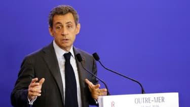 Le président du parti Les Républicains, Nicolas Sarkozy, à Paris le 31 mai 2016
