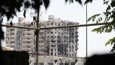 Dans Jobar, un quartier contrôlé par les rebelles dans le centre de Damas, pilonné samedi par l'aviation de Bachar al Assad. La Russie a mis en garde contre l'instauration d'une zone d'exclusion aérienne sur la Syrie, envisagée par les Etats-Unis, tandis