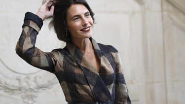 Alessandra Sublet au défilé Dior Haute couture à Paris, le 22 janvier 2018. - -