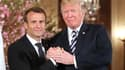 Emmanuel Macron et Donald Trump, le 24 avril, à la Maison Blanche.