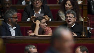 Des députés de La France Insoumise à l'Assemblée nationale le 04 juillet 2017