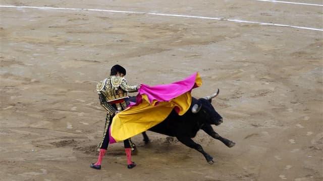 Les Français sont partagés au sujet de l?interdiction de la corrida, 48% pensant que ce devrait être le cas partout dans le pays et 42% prônant le statu quo, son maintien dans les villes du Sud, selon un sondage Ifop pour Midi Libre. /Photo d'archives/REU