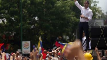 Juan Guaido le 1er mai dernier à Caracas.