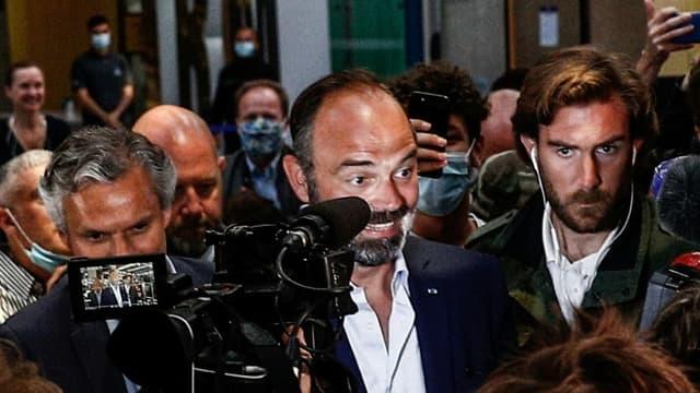 Le Premier ministre Edouard Philippe au soir de sa victoire à la mairie du Havre, le 28 juin 2020