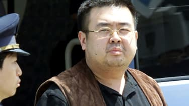 Photo datée du 24 mai 2001 de Kim Jong Nam à l'aéroport international de Narita, près de Tokyo