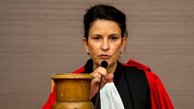 La présidente des assises du Pas-de-Calais, Claire Le Bonnois, lors du premier jour du procès de Fabienne Kabou. (Photo d'illustration)