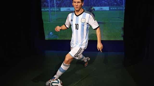 La statue de cire de Leo Messi.