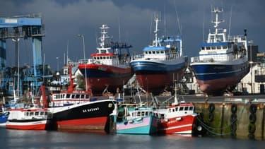 Des bateaux de pêche au port de Le Guilvinec, (Bretagne), le 4 juin 2020