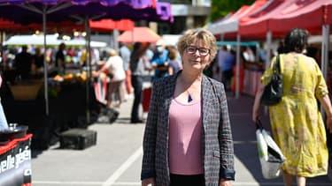 La présidente sortante de Bourgogne-Franche-Comté Marie-Guite Dufay, le 3 juin 2021 à Lons-le-Saunier.