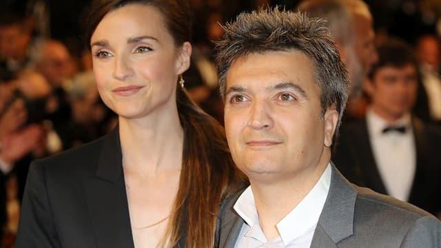 Le producteur Thomas Langmann et son épouse la journaliste Céline Bosquet le 19 mai 2016 au festival de Cannes.