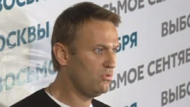 Alexeï Navalny conteste les résultats du premier tour de l'élection à la mairie de Moscou le 8 septembre 2013.