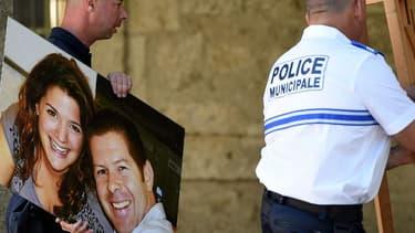 portraits des policiers assassinés.
