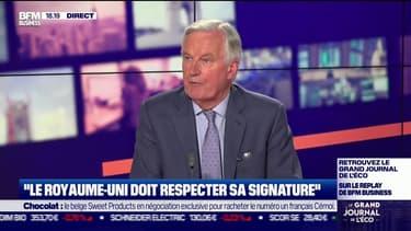 Michel Barnier, ex-négociateur européen pour le Brexit, était l'invité ce mardi soir du Grand Journal de l'Eco sur BFM Business.