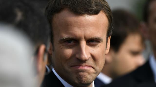 Le président Emmanuel Macron lors d'une cérémonie en hommage au prêtre Jacques Hamel, le 26 juillet 2017 à Saint-Etienne-du-Rouvray.