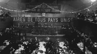Le Congrès de Tours de décembre 1920 qui a vu naître la naissance du Parti communiste français.