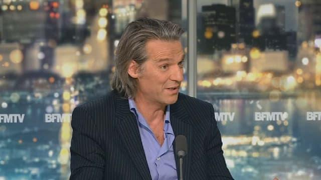 Le comédien et musicien Yvan Le Bolloc'h, sur le plateau de Nathalie Lévy lundi 8 juin.
