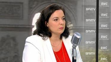 Emmanuelle Cosse, secrétaire générale d'EELV, le 8 avril 2014 sur BFMTV/RMC.