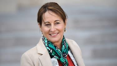 Ségolène Royal à la sortie du Conseil des ministre mercredi.